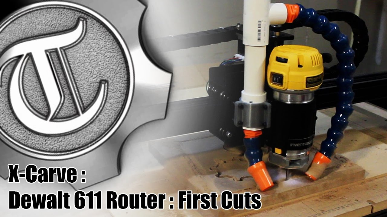 X carve dewalt 611 router first cuts youtube greentooth