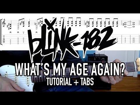 What's My Age Again - Blink-182 (Guitar Tutorial + Tabs)