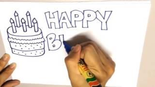 Drawing wish Happy Birthday!