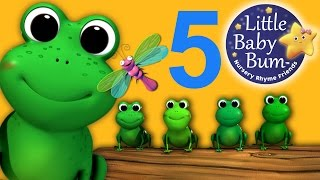 Five Little Speckled Frogs | Nursery Rhymes | HD Version from LittleBabyBum