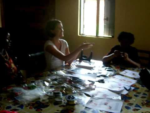 Jewelry Making in lugazi, Uganda www.designers4africa.org.