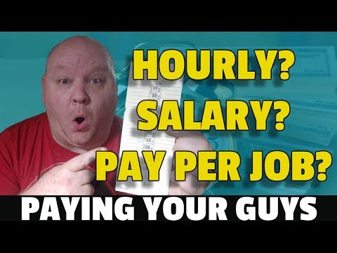 Hourly Pay Vs Pay Per Job.  Which Is Better To Pay Employees?