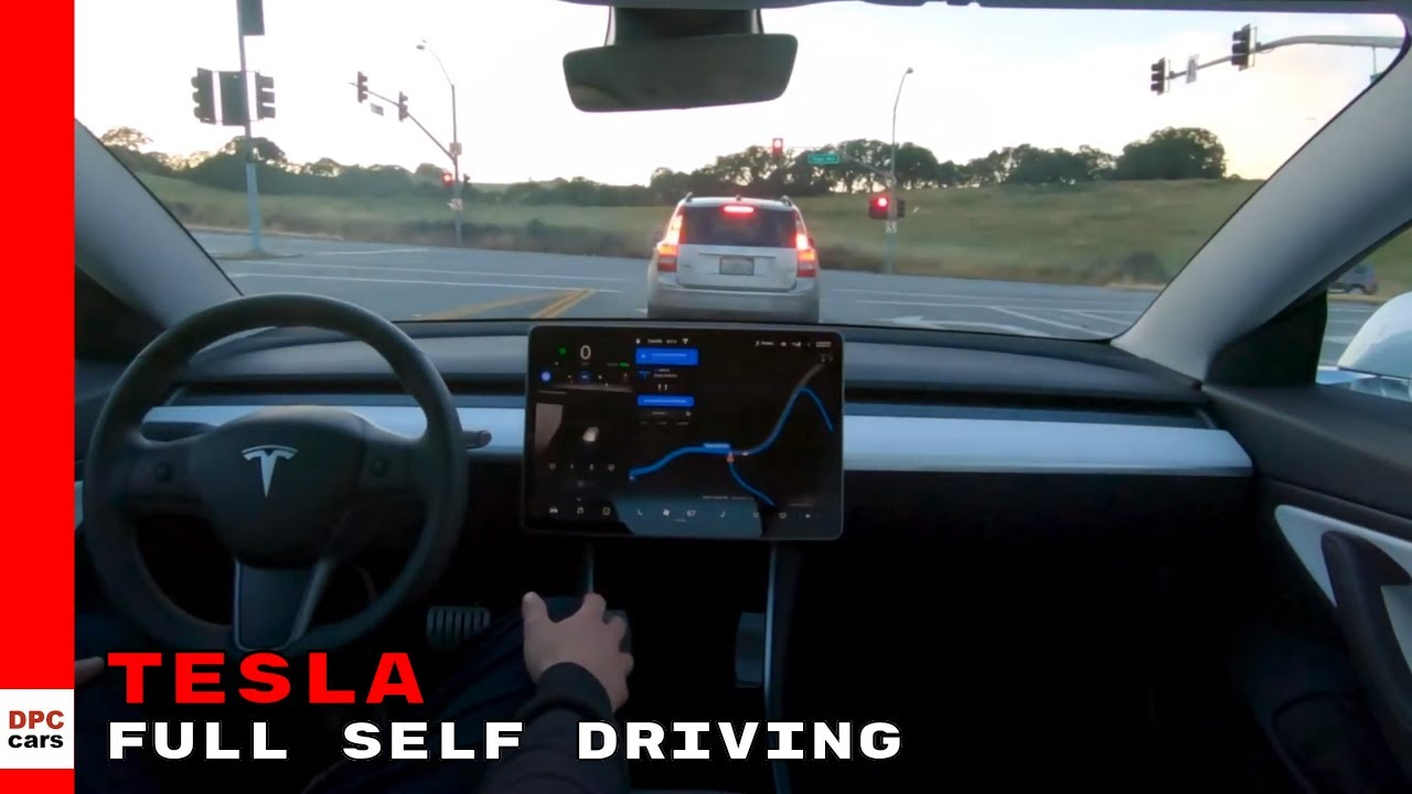 Tesla Autopilot Full Self Driving With Model 3 Demonstration