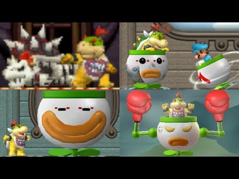 New Super Mario Bros Series - All Bowser Jr Boss Battles