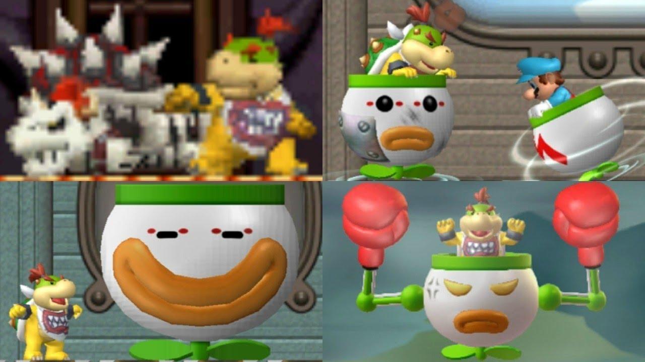 New Super Mario Bros Series All Bowser Jr Boss Battles Youtube