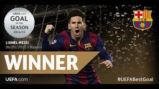 """شاهد بالفيديو : """"ليونيل ميسي"""" يفوز بلقب صاحب أفضل هدف في أوروبا في 2015"""