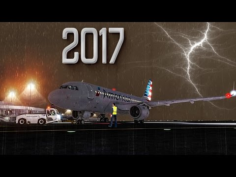 New Flight Simulator 2017 | Scary Thunderstorm Takeoff [P3D 3.4 - Ultra Realism]