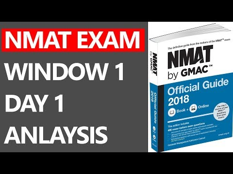 NMAT EXAM 2018 WINDOW 1 DAY 1 ALL SLOTS ANLAYSIS