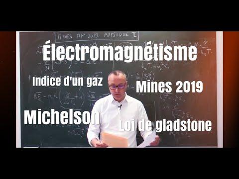 Mines Ponts Physique II MP 2019 - Loi De Gladstone Dale