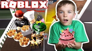 HAVING A CUPCAKE PARTY AT MY BROTHERS ELITE BAKERY in ROBLOX BLOXBURG