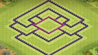 Clash of Clans - TH 8 Clan Wars Base - Anti Clan Castle Luring