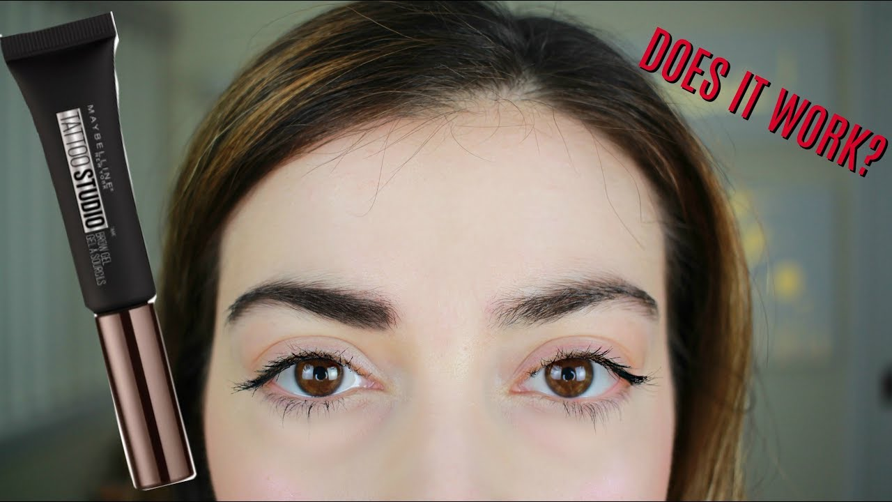 New maybelline tattoo studio brow gel youtube for Maybeline tattoo brow