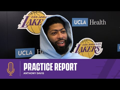 Anthony Davis gives an update on his health and discusses the versatility of the team's centers