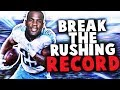 CAN I BREAK THE RUSHING RECORD IN MADDEN 18? MADDEN 18 CHALLENGE