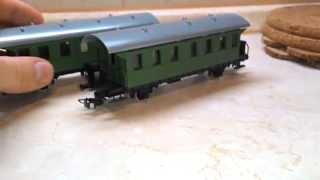 PIKO железная дорога, паровоз и два вагона(Немецкие железные дороги советские масштабные модели автомобилей машин., 2015-03-17T14:31:02.000Z)