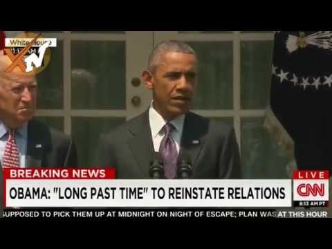 President Obama Announce US Embassy opening in Cuba - speech Diplomats Relation with cuba