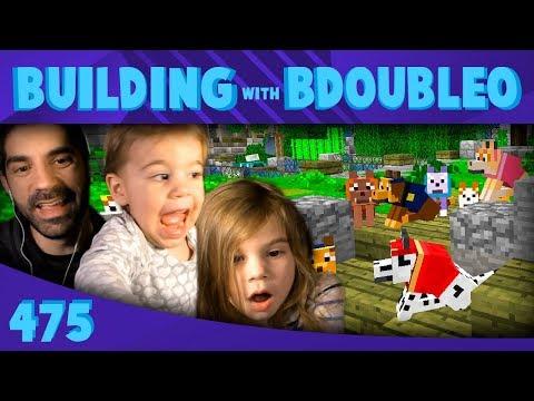Minecraft Paw Patrol Hunt with my Kids! :: Building w/ Bdubs #475