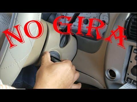 Que hacer cuando la llave del carro NO gira para encender El Switch falla en una Ford