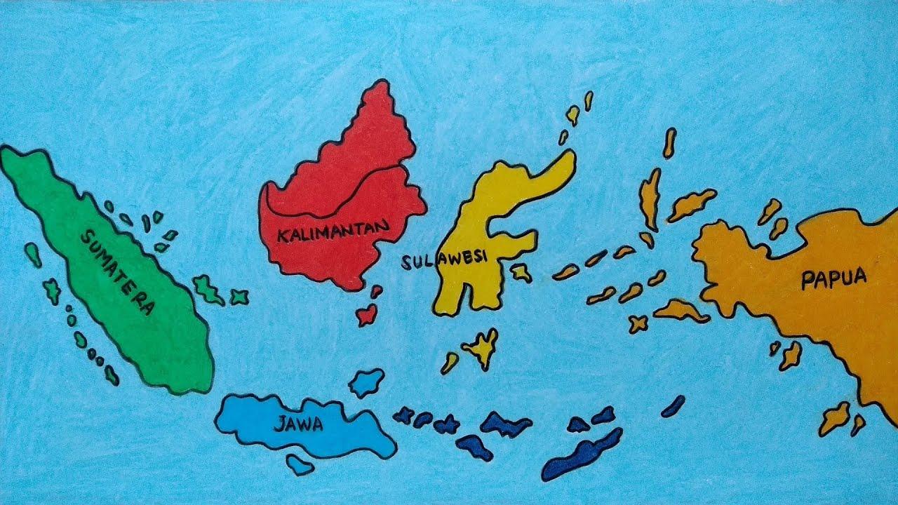 Khusus bagi sebagai anak dimasa memasuki tk ada beberapa pelajaran yang paling mereka sukai salah satunya adalah menggambar pemandangan dan sebenarnya dalam melatih kemampuan sang anak dalam menggambar ada baiknya menggukanan tema gambar mewarnai sebagai contoh. Cara Menggambar Peta Indonesia Belajar Menggambar Peta Indonesia Terbaru Youtube