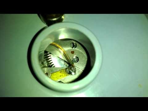 Very worn movement in Golay CM2 Marine Chronometer