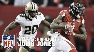 Julio Jones' Big Day vs. the Saints! | Saints vs. Falcons | NFL Week 17 Highlights