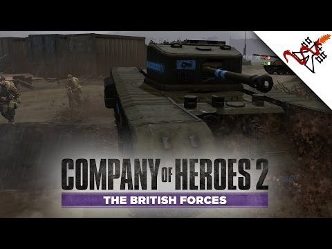 Company of Heroes 2 Gameplay - 4v4 Intense Battles   The British Forces Multiplayer