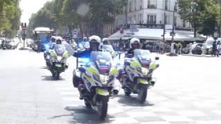 Défilé 14 juillet 2018 boulevard Raspail à Paris avec la Police