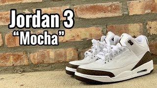 "premium selection a91eb 56ec3 Air Jordan 3 ""Mocha"" review"