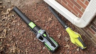 Unboxing of the EGO Power+ Battery Powered Blower and comparison to 18V Blower