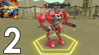 ARMY BATTLE SIMUALATOR - Walkthrough Gameplay Part 2 - MEGA ROBOT (Mod Android) screenshot 2