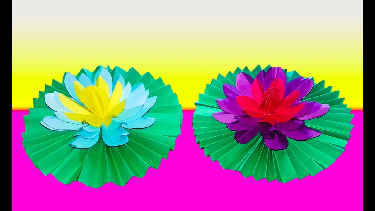 How To Make A Water Lily Out Of Tissue Paper|Origami Water ... - photo#29