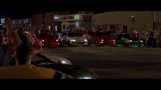 Первая гонка Брайн VS Доминик \ Форсаж ( The Fast and the Furious )