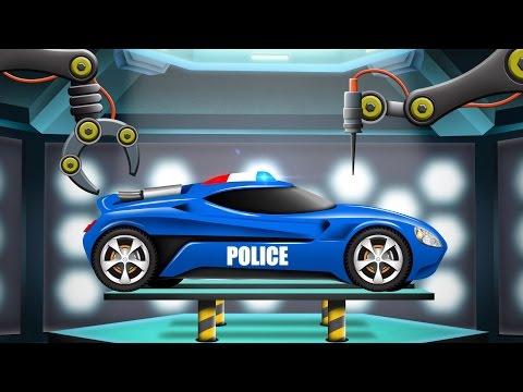 Police Car | Car Garage | Cartoon Car Remodel | Futuristic V