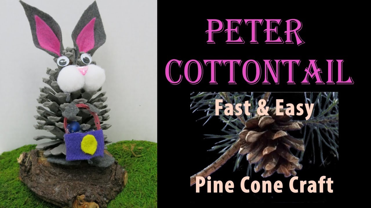 🐇Pine Cone Rabbit Craft for Easter 🐇