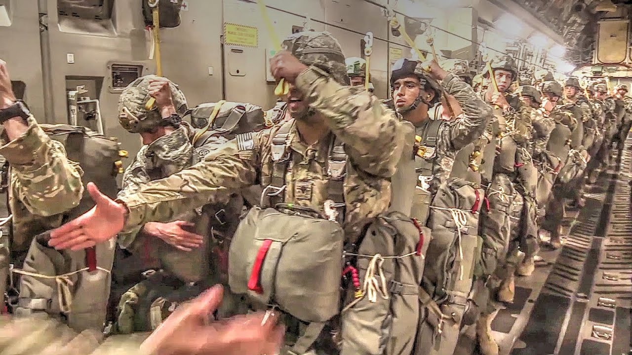US Military Soldiers, Airmen In Airborne Operations - YouTube