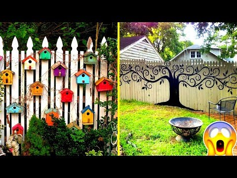 Beautiful DIY Fence Decorations - Creative Fences