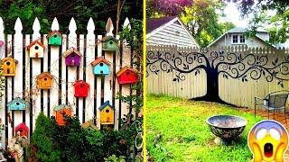 Gambar cover Beautiful DIY Fence Decorations - Creative Fences
