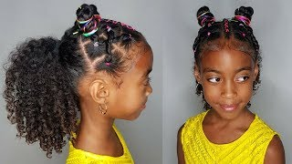 RAINBOW BUNS- HAIRSTYLE FOR GIRLS