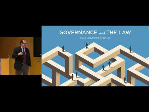 Governance, Law and Development: The World Development Report 2017