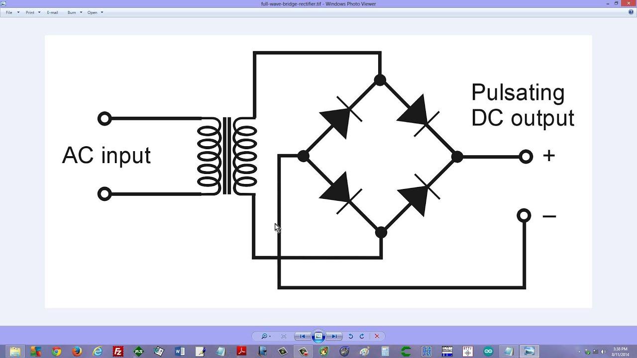 full wave bridge rectifier [ 1280 x 720 Pixel ]