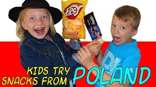 Kids Try Foods From Poland || Universal Yums