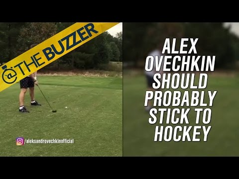 Video proof that NHL star Alex Ovechkin is really, really bad at golf   @TheBuzzer   FOX SPORTS