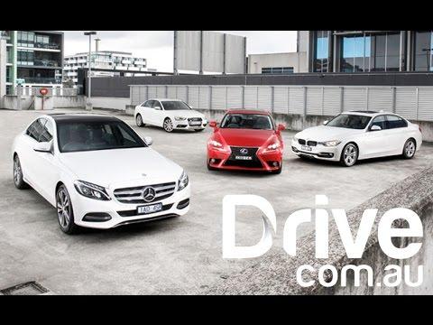 2014 C-Class v A4 v 320i v IS300h | Mid-size luxury sedans comparison | Drive.com.au