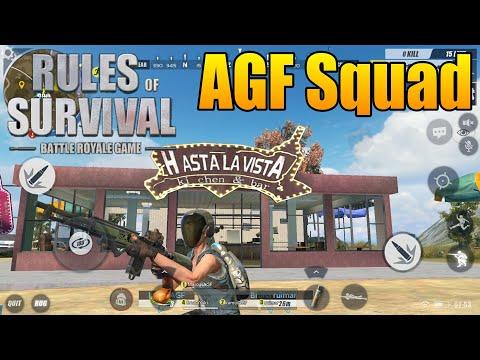 Rules of Survival - Jogando com Inscritos - SquadAGF
