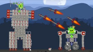 Bad Piggies - MONSTER SMALL ROBOT VS HUGE KING ROBOT!