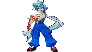 How to draw kai from beyblade step by step