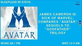 James Cameron is sick of Marvel: compares Avatar sequels to Godfather trilogy | Sleepless with Steve