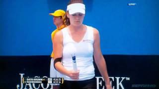 HD Tennis Australia open 2011 Radwanska Lost Her Racquet.avi