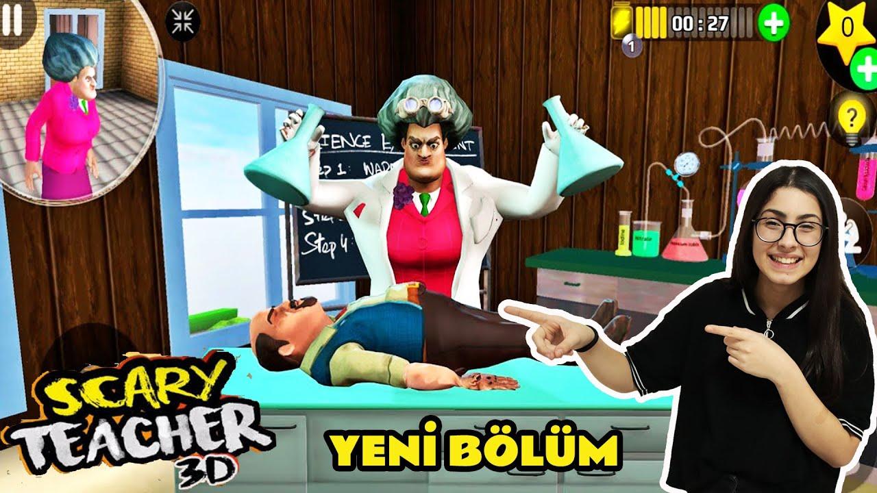 SCARY TEACHER 3D DELİ ÖĞRETMEN ÇILDIRDI EVİNDE DENEYLER YAPIYOR !!  BÜYÜK ŞAKA YENİ BÖLÜM EYLÜL LAL
