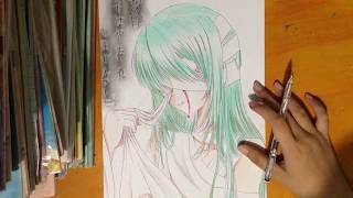 Speed Drawing #3: Hatsune Miku (Vocaloid) / Tranh Vẽ Anime: Hatsune Miku ( Vocaloid)